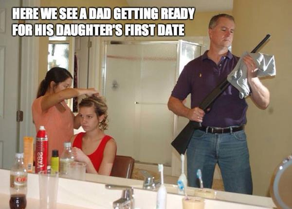 Dad Getting Ready For His Daughters First Date