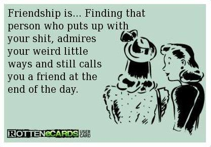 Friendship is…