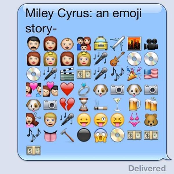 Miley Cyrus an emoji story
