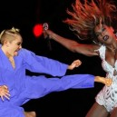 Miley Karate Kicks Beyonce