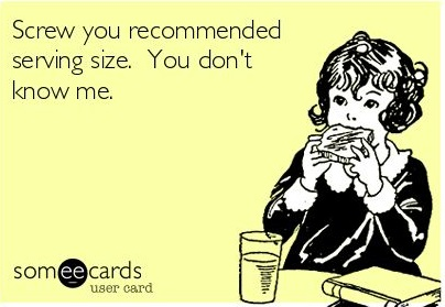 Recommended serving size