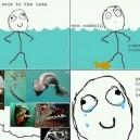 Swim in a lake