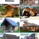 The Evolution Of Microsoft Windows As Shown With Houses