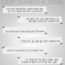 Things to tell our grandchildren