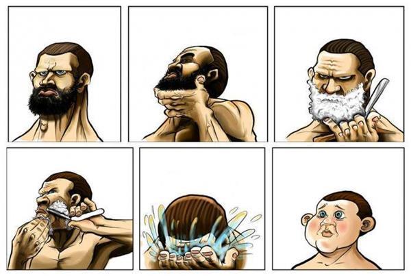 When Men Shave