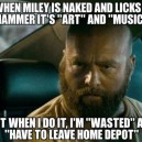 When Miley Is Naked And Licks A Hammer