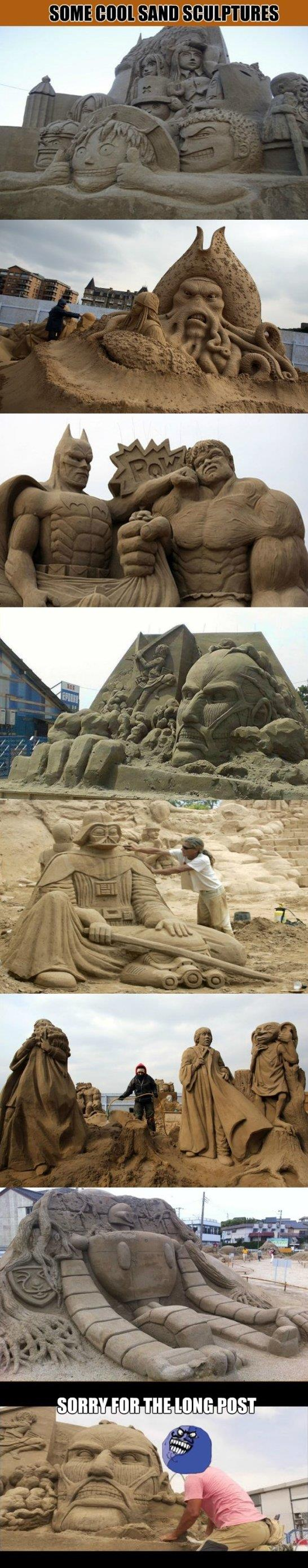 Cool Sand Sculptures