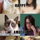 Grumpy Cat vs. Kristen Stewart Impressions