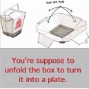How to eat from a china food box