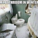 My Bathroom In The Winter