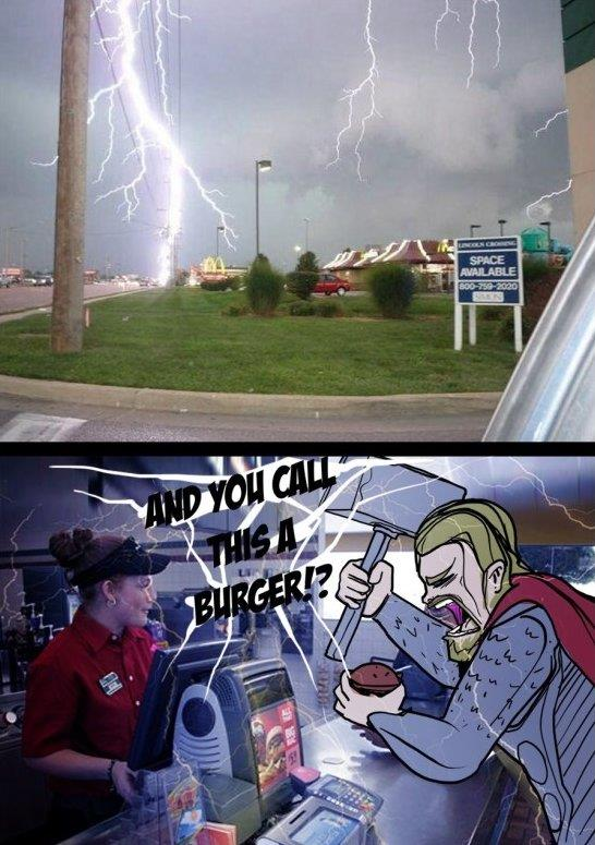 Thor Doesn't Like Mcdonalds