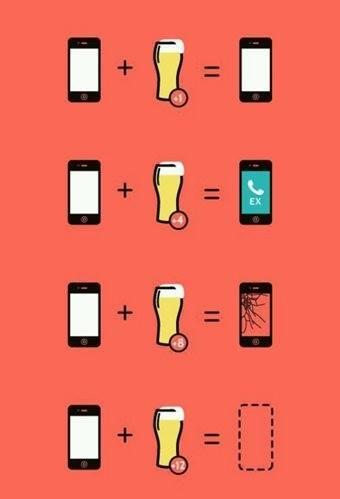Your phone and a beer