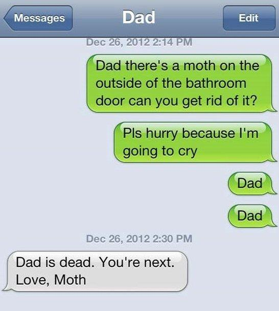 Awesome text from dad