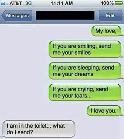 Awkward Text Message