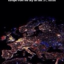 Europe Satellite View On New Years Eve