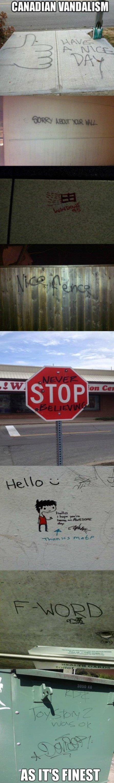 Funny Canadian Vandalism