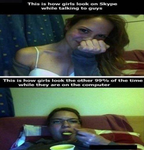 Girls And Skype