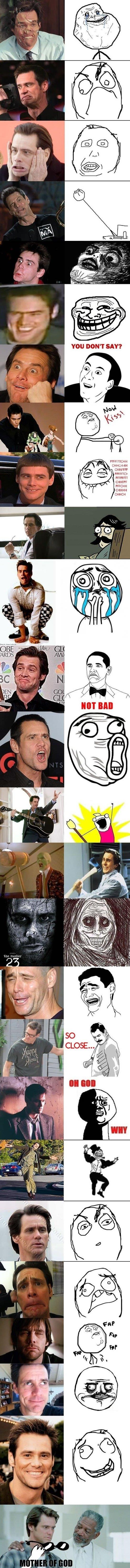 Jim Carrey and Rage Faces