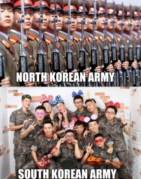 South and North Korean Army