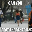 Spot the Canadian