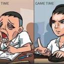 Study Time vs. Game Time