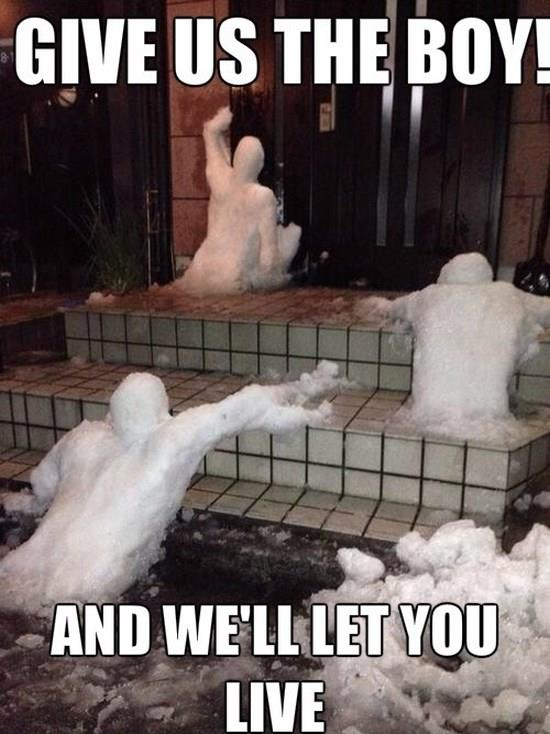 Angry snowmen