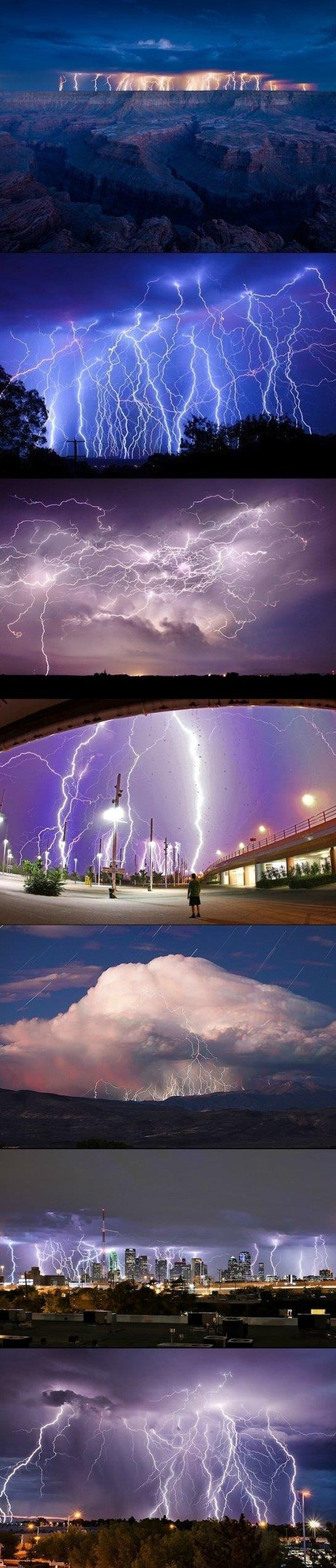 Awesome lightning strikes
