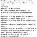 Grandparents answering machine