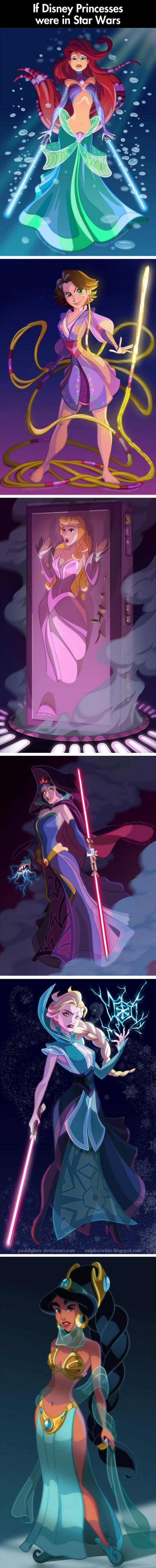 If Disney Princesses were in Star Wars