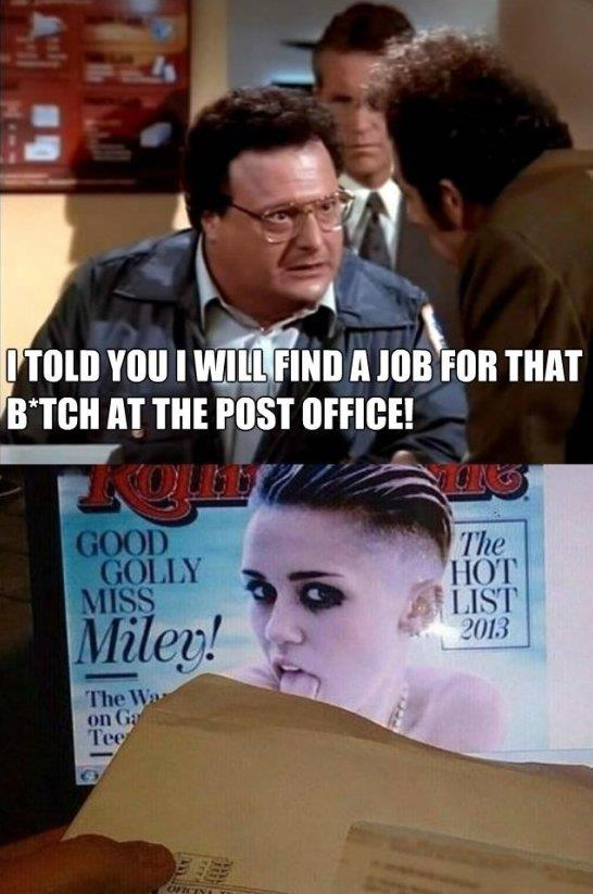 Miley Cyrus got a job