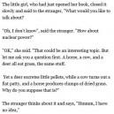 The stranger and the little girl