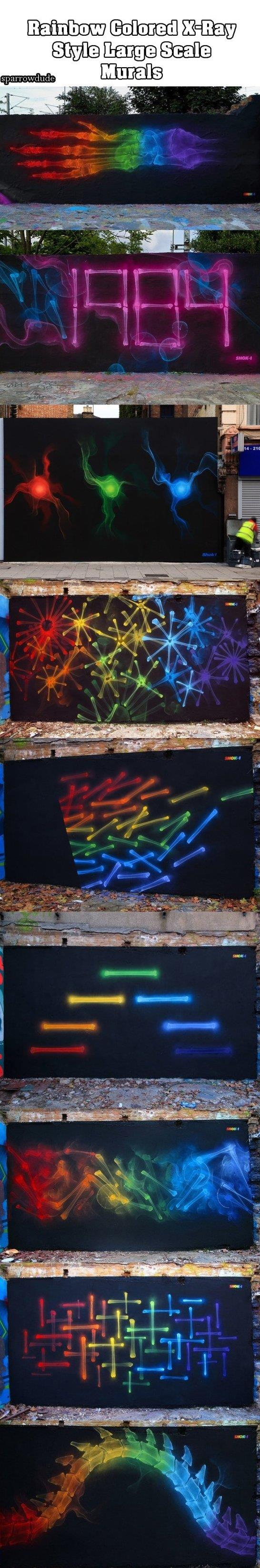 X Ray Style Murals