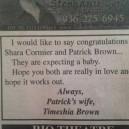 Congratulations Patrick
