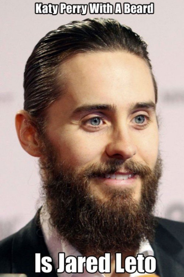 Katy perry with a beard