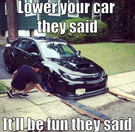Lowered Car
