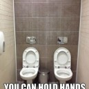 Couples restroom