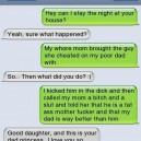 Text Message Daddys girl
