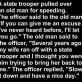 The Old man and the speeding ticket
