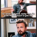 Aaron Paul at the airport