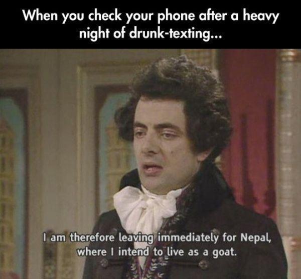 Night of drunk texting