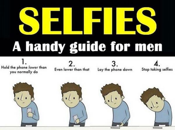 Selfies for men