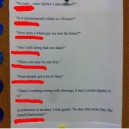 Things students say