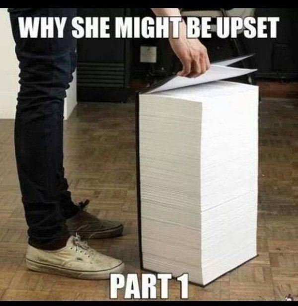 Why she might be upset