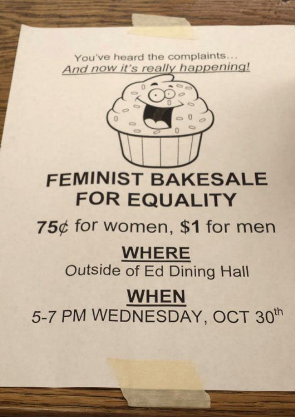 Feminist Bakesale Fail