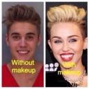 Justin Bieber with makeup