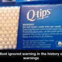 Most ignored warning ever