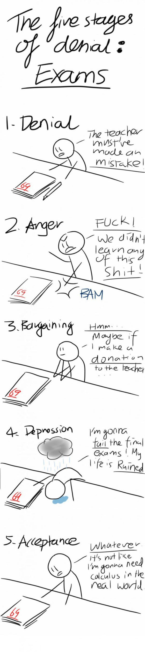 The 5 stages of denial