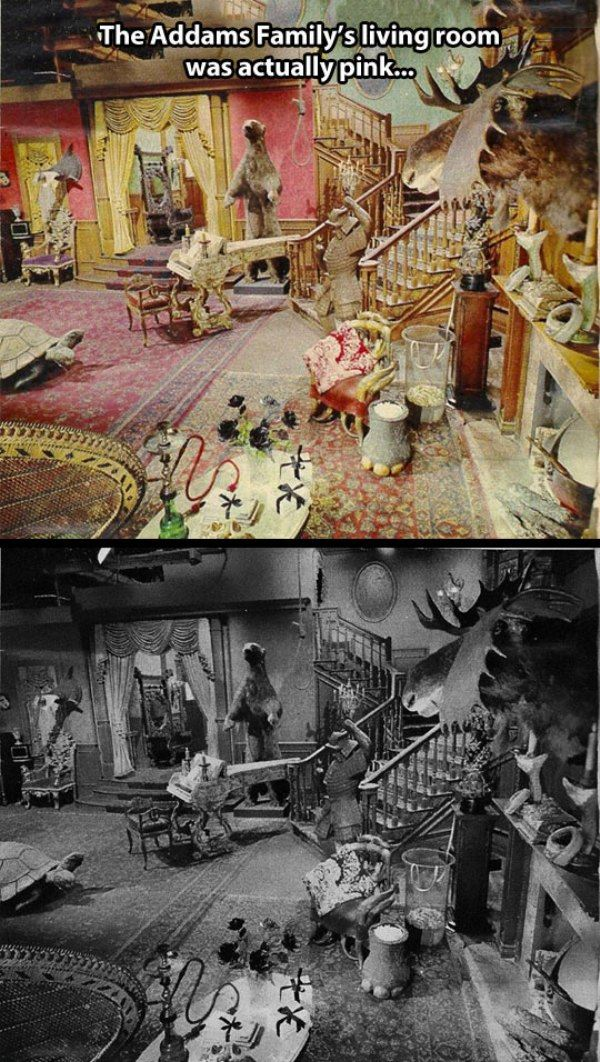 The Adams Family's Living Room
