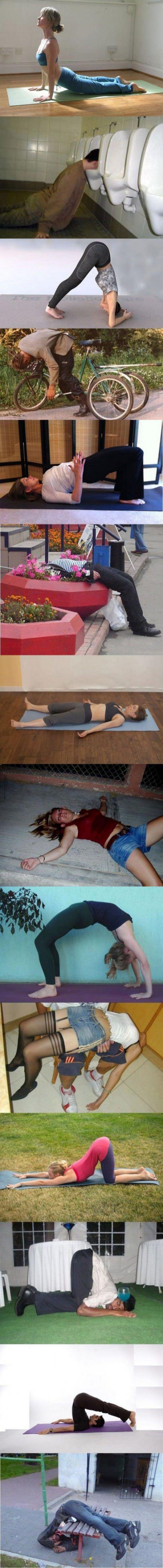 Yoga Sober and Drunk