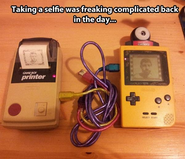 Back then Selfies